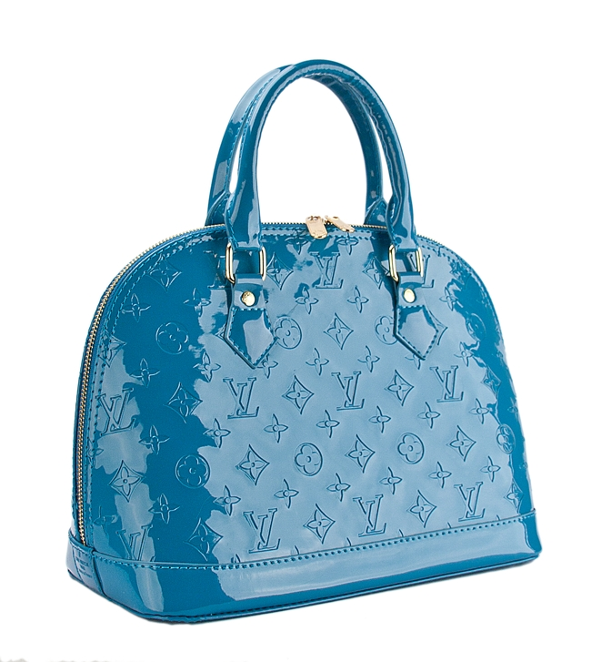 Сумка Louis Vuitton Neverfull MM epi синяя